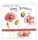 Alex Clark for her Happy Birthday bees and flowers floral Birthday card Nickery Nook
