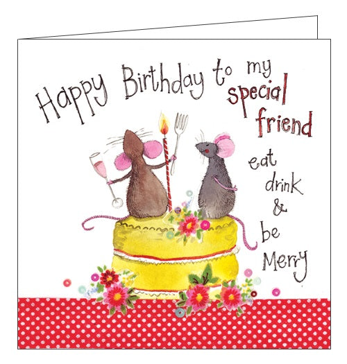 Alex Clark For Her Happy Birthday Cute Mice Special Friend Sweet Treats Cake Eat Drink And