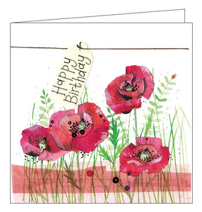 Alex Clark for her Happy Birthday flowers poppies card Nickery Nook