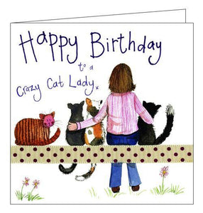 Alex Clark for her Happy Birthday to a crazy cat lady Happy Birthday card Nickery Nook