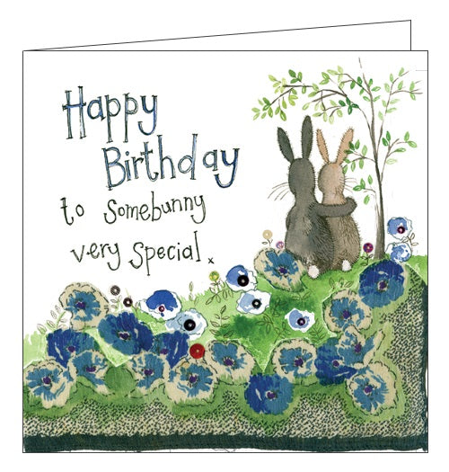 Alex Clark for her bunnies rabbits someone very special Happy Birthday Dear Friend Birthday card Nickery Nook