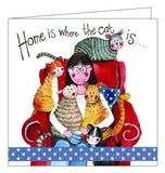 Alex Clark for her cat cats card home is where the cat is cat lady blank card Nickery Nook