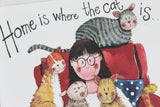 Alex Clark for her cat cats card home is where the cat is blank card Nickery Nook