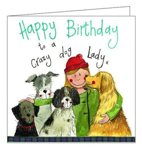 Alex Clark for her crazy dog lady Happy Birthday card Nickery Nook