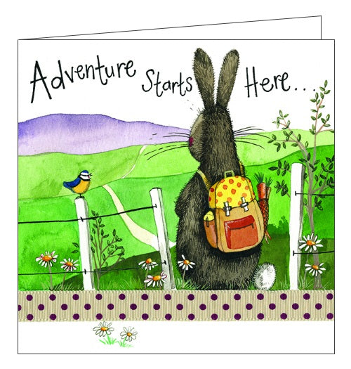 Alex Clark for her for him adventure hiking walking nature blank card Nickery Nook