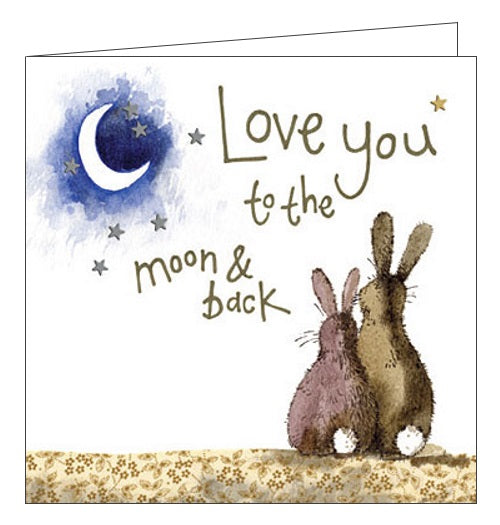 Alex Clark for her for him love you to the moon and back love romance stargazing card Nickery Nook new