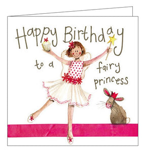 Alex Clark for her for kids Happy Birthday fairy princess cute Happy Birthday card Nickery Nook