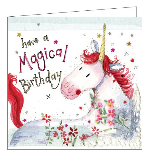 Alex Clark for her magical birthday unicorn Happy Birthday card Nickery Nook