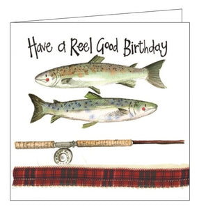 Alex Clark for him Happy Birthday Reel good Birthday fishing Happy Birthday card Nickery Nook
