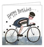 Alex Clark for him Happy Birthday cycling cyclist bike Happy Birthday card Nickery Nook