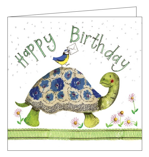 Alex Clark for him Happy Birthday turtle for kids Happy Birthday card Nickery Nook