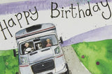 Alex Clark for him RV caravan motorhome adventure Happy Birthday card Nickery Nook