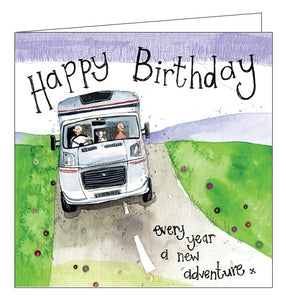 Alex Clark RV caravan motorhome adventure Happy Birthday card Nickery Nook