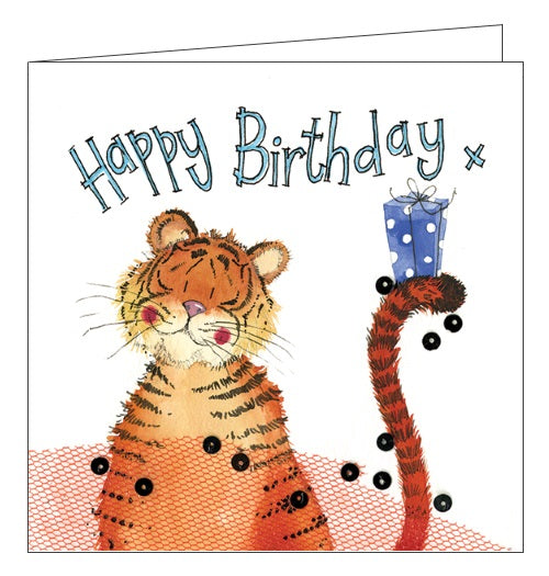 Alex Clark happy birthday tiger jungle animals happy birthday card Nickery Nook