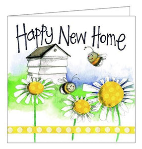 Alex Clark happy new home congratulations new house card bees beehive flowers floral Nickery Nook