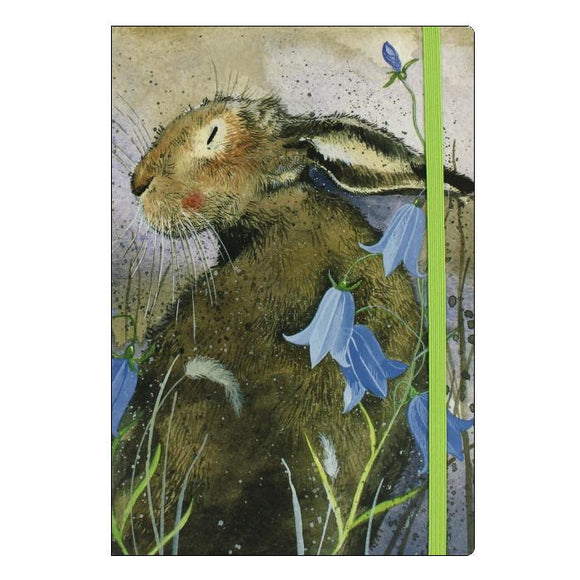Alex Clark hare rabbit bluebells notebook 3