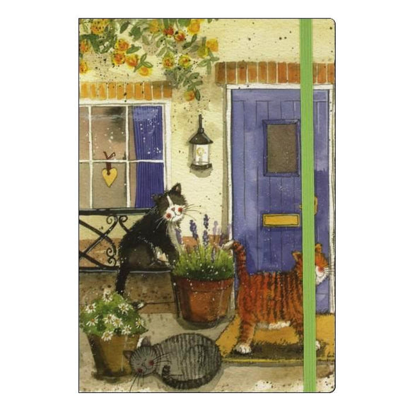 Alex Clark large chunky notebook a5 notebook lined cats Nickery Nook