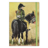 Alex Clark large chunky notebook a5 notebook lined horse girl and her horse Nickery Nook