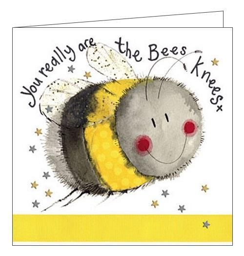 Alex Clark you really are the bees knees love thank you blank card Nickery Nook