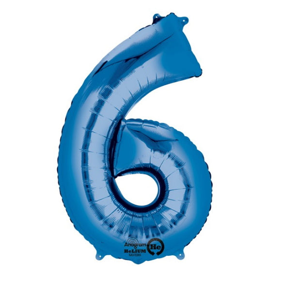 6 - Large Blue Helium-Filled Balloon
