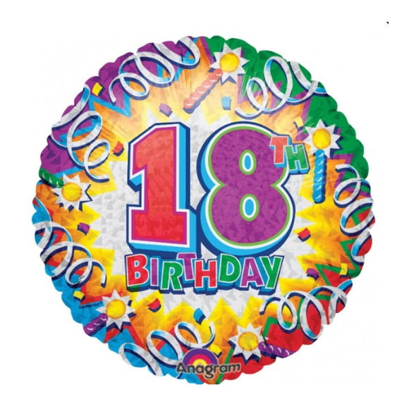 18th Birthday Helium Balloons - Various Designs
