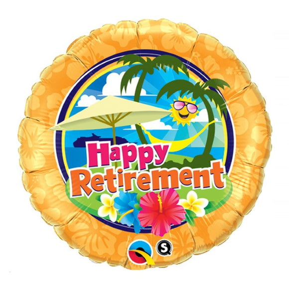 Happy Retirement - Helium Filled Balloon