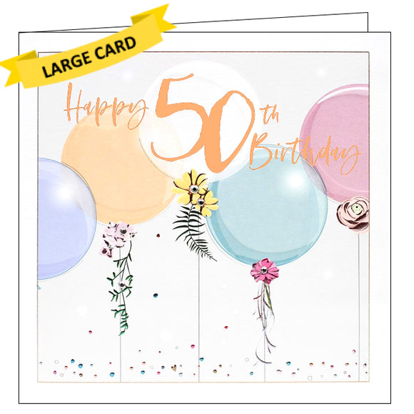 Belly Button bellybutton card 50th birthday card
