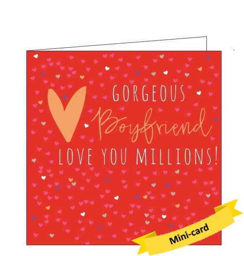 Belly Button bellybutton gorgeous boyfriend card Nickery Nook