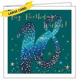 Belly Button luxe 18 today big birthday wishes 18th birthday card blue copper Nickery Nook