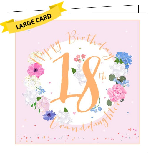 Belly Button luxe 18th birthday happy 18th birthday granddaughter to a special granddaughter on your 18th birthday card Nickery Nook