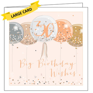 Belly Button Luxe 30 Today 30th Birthday Big Wishes For Her Card Nickery