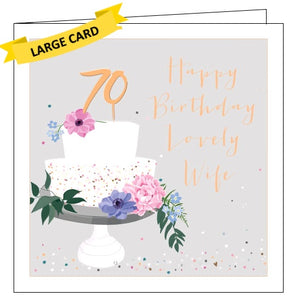 Belly Button luxe 70 today wife 70th birthday card Nickery Nook
