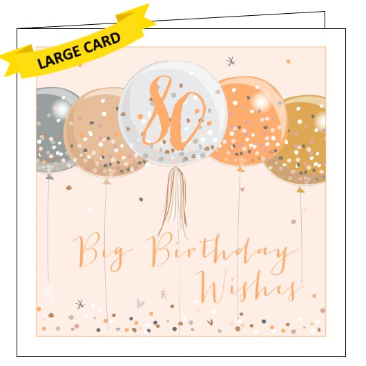 Belly Button luxe 80 today 80th birthday big birthday wishes for her 80th birthday card Nickery Nook