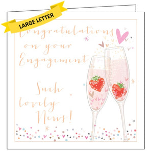 Belly Button luxe congratulations on your engagement card Nickery Nook