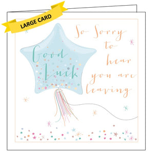 Belly Button luxe good luck sorry you're leaving card Nickery Nook