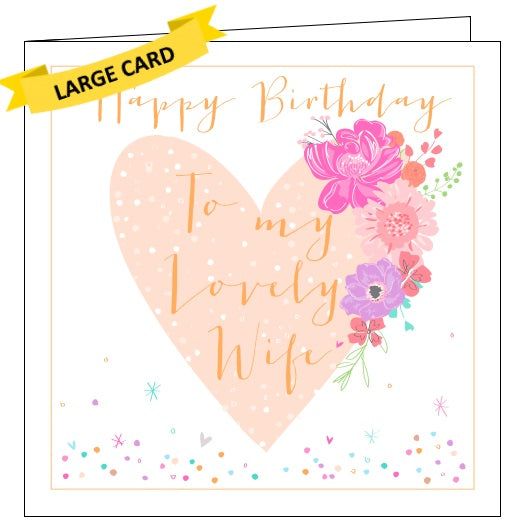 Belly Button luxe lovely wife birthday card Nickery Nook