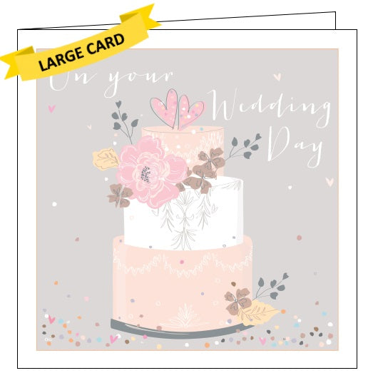 Belly Button luxe on your wedding day congratulations card Nickery Nook