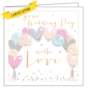 Belly Button luxe on your wedding day with love congratulations card Nickery Nook