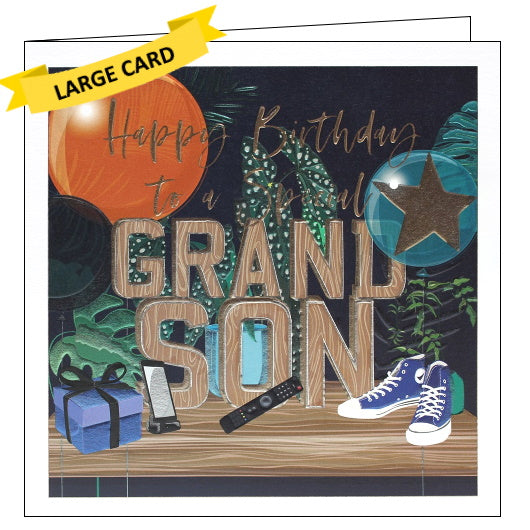 Belly Button luxury grandson birthday card
