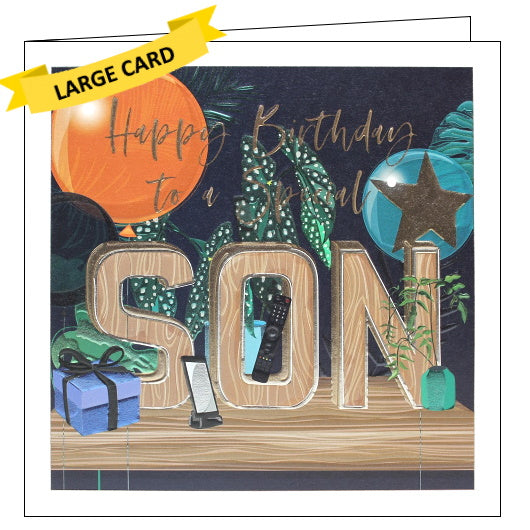 Belly Button luxury son birthday card