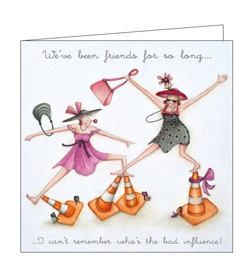 Berni Parker Ladies who Love Life bad influence blank card Nickery Nook