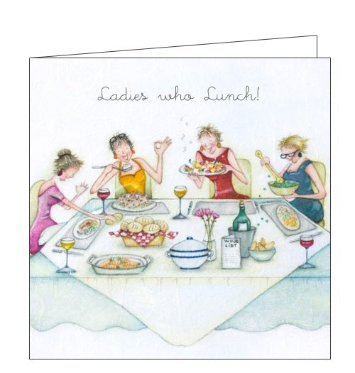 Berni Parker Ladies who Love Life ladies who lunch blank card Nickery Nook