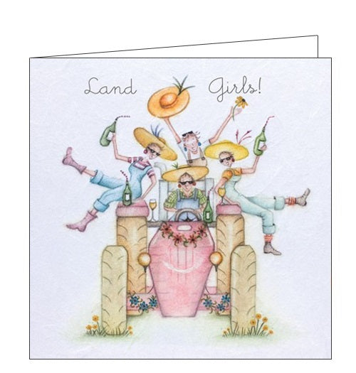 Berni Parker Ladies who Love Life land girls blank card Nickery Nook