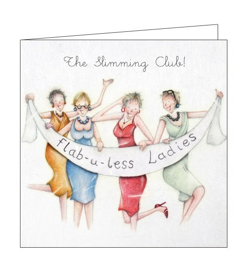 Berni Parker Ladies who Love Life slimming club flab-u-less blank card Nickery Nook