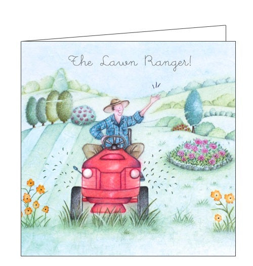 Berni Parker Men who Love Life lawn ranger blank card Nickery Nook