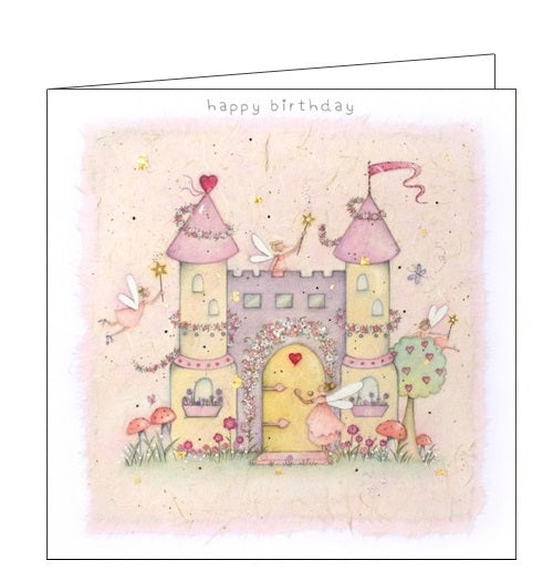 Berni Parker little ones fairy castle birthday card Nickery Nook