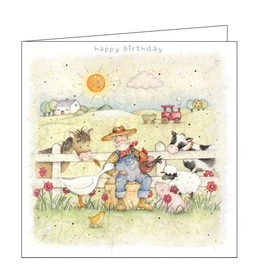 Berni Parker little ones old mcdonalds farm birthday card Nickery Nook