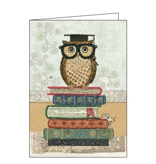 Bug Art Amy Butcher book owl school university blank card Nickery Nook