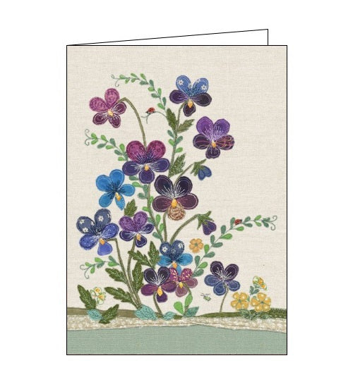Bug Art Dear Emma viola flowers florals blank card Nickery Nook
