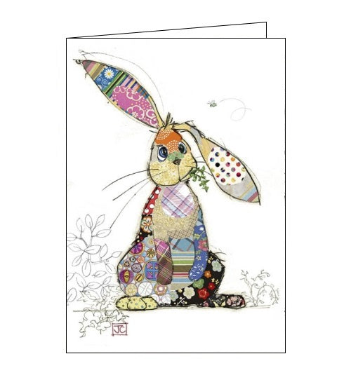 Bug Art Jane Crowther binky bunny rabbit blank card Nickery Nook